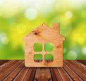 Plywood house Stock Photo