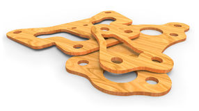 Plywood parts Stock Photography