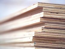 The plywood. Plywood boards stack on the furniture industry stock image