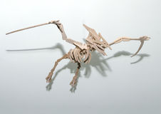 Plywood pterodactyl. Toy maded from plywood stock photography