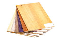 Plywood samples Royalty Free Stock Photography