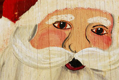 Plywood Santa Royalty Free Stock Photo