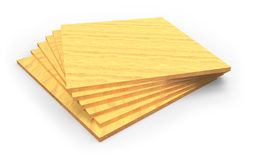 Plywood sheet samples Royalty Free Stock Photo