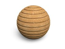 Plywood sphere Stock Photography