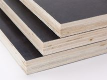 Plywood texture. Stack of plywood sheets, photo detail Royalty Free Stock Photo