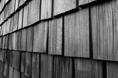 Plywood Wall  in Black and White Royalty Free Stock Photography
