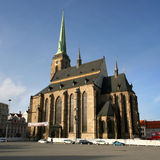 Plzen cathedral Royalty Free Stock Photography