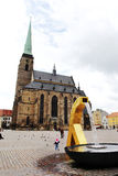 PLZEN, CZECH REPUBLIC - JUNE 5: Cathedral of St. Bartholomew on the Republic square Royalty Free Stock Images