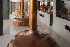 Plzen Urquell la fabbrica di birra moderna fotografia stock