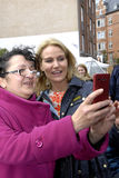 PM HELLE THORNING-SCHMIDT MEETS VOTERS Royalty Free Stock Images