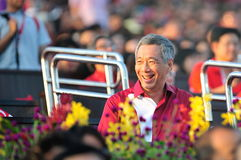 PM Lee Hsien Loong smiling during NDP 2012 Stock Photo