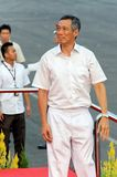 PM Lee looking at spectators during NDP 2009 Royalty Free Stock Photography