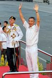 PM Lee waving to audience during NDP 2009 Stock Photography