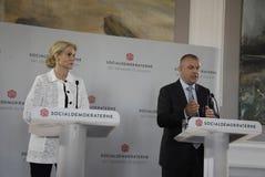PM & MINISTRO PER LA CONFERENZA STAMPA DEL GIUNTO DI FINANC E Immagine Stock Libera da Diritti