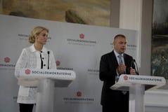 PM & MINISTRO PER LA CONFERENZA STAMPA DEL GIUNTO DI FINANC E Fotografie Stock Libere da Diritti