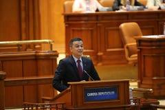 PM Sorin Grindeanu不信任投票 免版税图库摄影