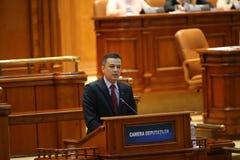 PM Sorin Grindeanu geen-vertrouwensstem Stock Afbeelding