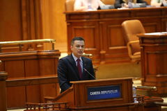 PM Sorin Grindeanu no-confidence vote Stock Image