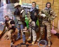 Pmc Theam military. On the scale miniature realistic toy soldier Stock Photos