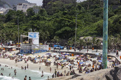 PMERJ increases policing in Rio's beaches with monitoring truck Royalty Free Stock Photos