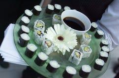 półmiska sushi Zdjęcie Stock
