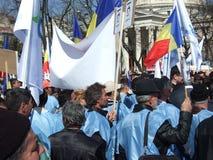 PMP διαμαρτυρία στο Βουκουρέστι Στοκ Εικόνες