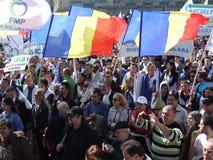 PMP διαμαρτυρία στο Βουκουρέστι Στοκ Φωτογραφίες
