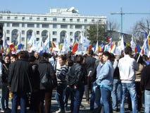 PMP διαμαρτυρία στο Βουκουρέστι Στοκ εικόνα με δικαίωμα ελεύθερης χρήσης