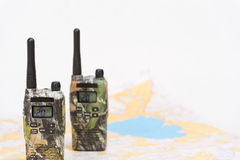 PMR radios and map Stock Images