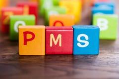 PMS Word που γίνεται με τους φραγμούς Στοκ φωτογραφία με δικαίωμα ελεύθερης χρήσης
