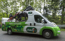 PMU (αμοιβαίο χτύπημα Urbain LE) όχημα στα βουνά Vosges - περιοδεύστε το δ Στοκ φωτογραφία με δικαίωμα ελεύθερης χρήσης