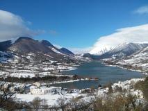 Pnalm Italien för sjöBarrea lago Royaltyfri Fotografi
