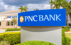PNC Bank Exterior and Logo Royalty Free Stock Photo