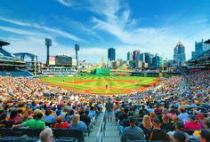PNC Park and Downtown PIttsburgh stock photo