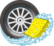 pneu d'éponge de véhicule Image stock