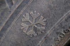 Pneu d'hiver image libre de droits