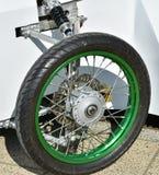 Pneu d'une moto de sidecar Photos libres de droits
