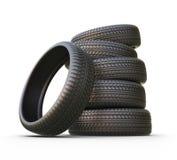Pneu de borracha ou pneumático ícone 3D isolado Fotos de Stock Royalty Free