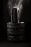 pneu de caches Images stock