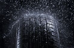 Pneu de pluie Image libre de droits