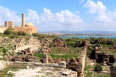 Pneu, Liban Photographie stock