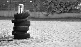 pneu - para-choque Imagem de Stock