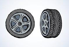 pneu Retrait de vecteur Photo libre de droits