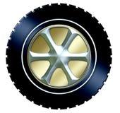 Pneu w/hubcap Fotos de Stock Royalty Free