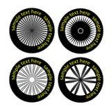 Pneumáticos e rodas do vetor Imagens de Stock