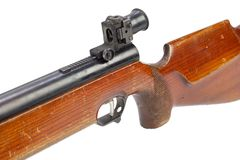 Pneumatic air rifle isolated. On white background royalty free stock image