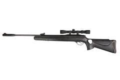 Pneumatic air rifle with optical sight royalty free stock images