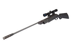 Pneumatic air rifle with optical sight Stock Photography