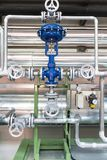 Pneumatic control valve in a steam heating system stock photography