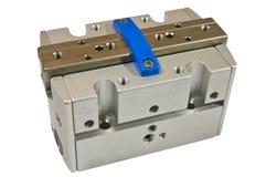 Pneumatic cylinder. Machine part, on white background isolate Stock Photo